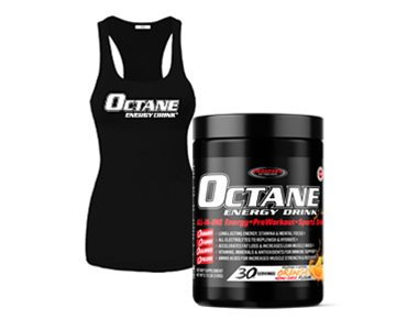 OCTANE ENERGY DRINK™ TUB Plus Girls Racerback Tank Top
