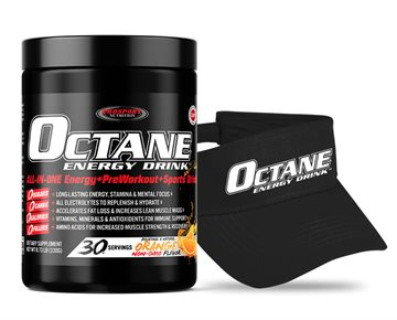 OCTANE ENERGY DRINK™ TUB Plus a OCTANE ENERGY DRINK™ Visor Cap + Bottle of FIT SALT