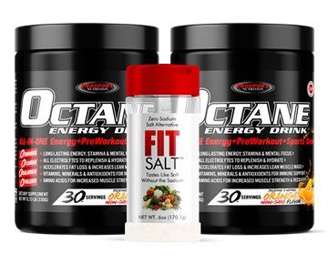COMBO 2 OCTANE ENERGY DRINK™ Tubs & FIT SALT