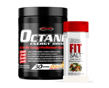 COMBO OCTANE ENERGY DRINK™ with FIT SALT 30 Serving Canister plus 6oz FIT SALT